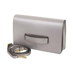 Stříbrná kabelka z pravé kůže Andrea Cardone
