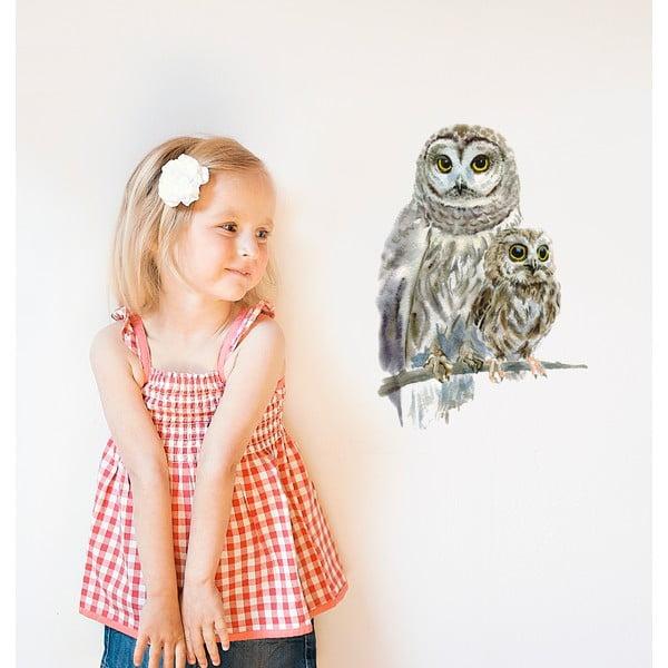 Znovu snímatelná samolepka Woodland Owls, 40x30 cm