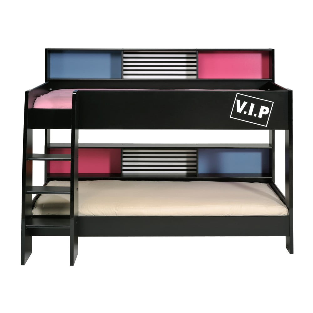 Černá patrová postel Parisot Adelise, 90x200cm