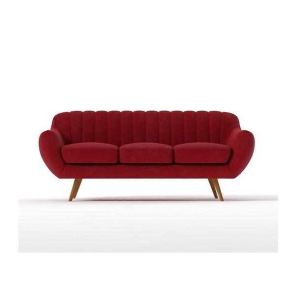 Sofa Azure pro tři, červené