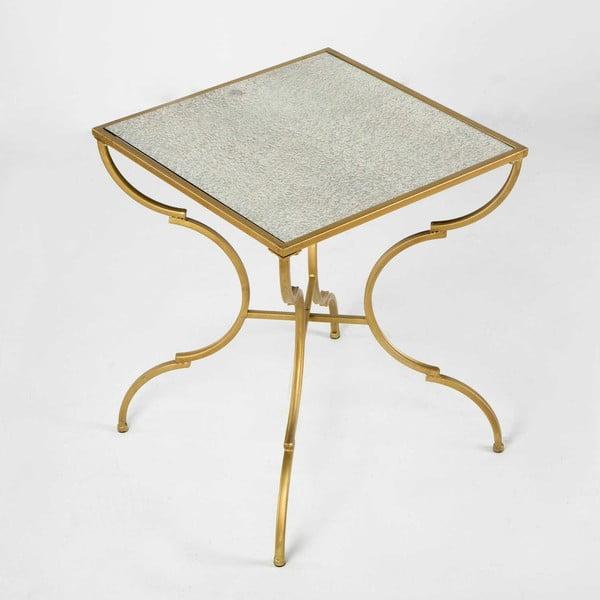 Kovový příruční stolek ve zlaté barvě Thai Natura Doi