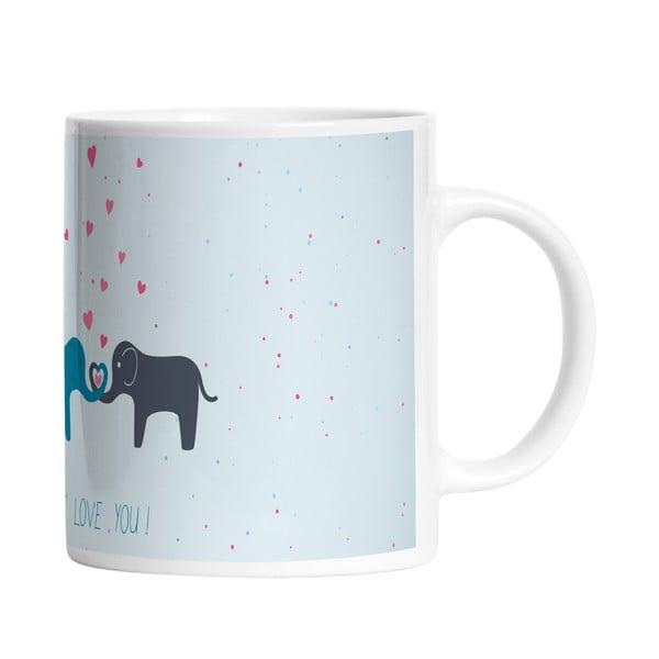 Keramický hrnek Elephant Love, 330 ml