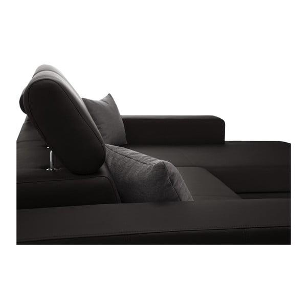 Tmavě hnědá rozkládací sedačka Interieur De Famille Paris Tresor, pravý roh