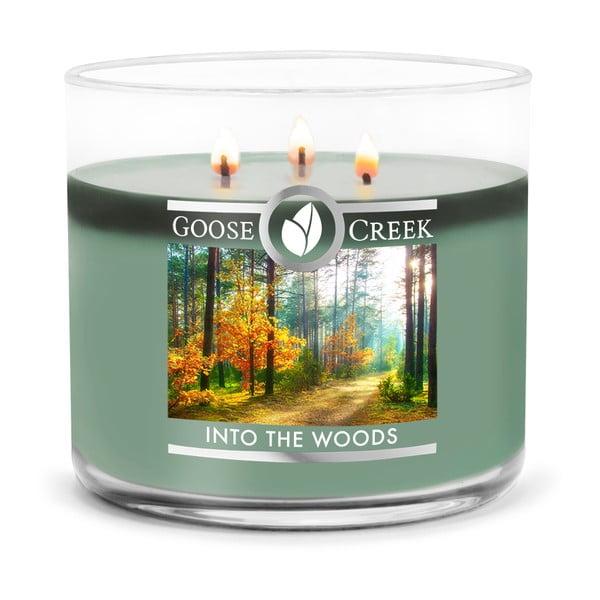 Świeczka zapachowa w szklanym pojemniku Goose Creek Into the Woods, 35 godz. palenia