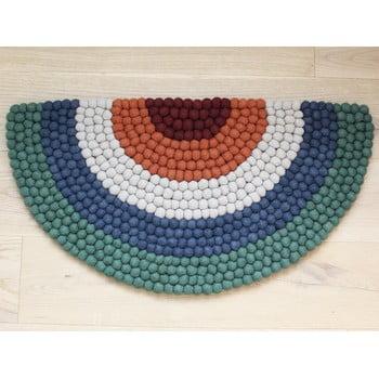 Covor cu bile din lână, pentru camera copiilor Wooldot Ball Rugs Rainbow Green