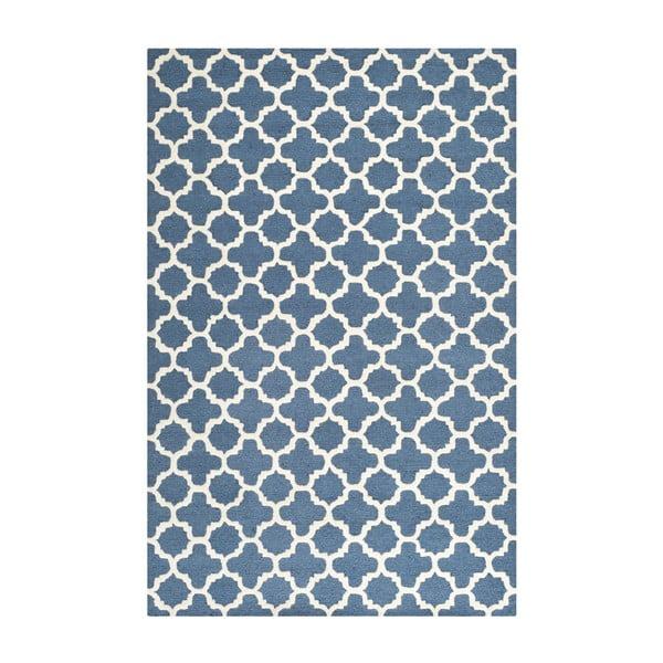 Niebieski dywan wełniany Safavieh Bessa, 243x152 cm