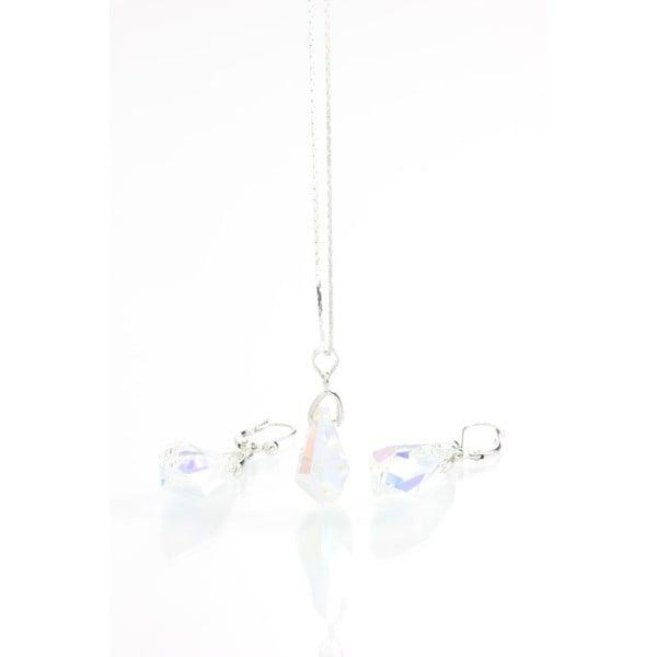 Set náhrdelníku a náušnic se Swarovski krystaly Yasmine Simplicity
