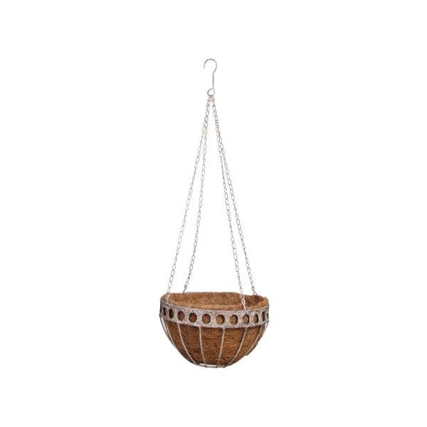 Závesný kvetináč z kokosového vlákna Esschert Design Prasso, ⌀ 26,2 cm
