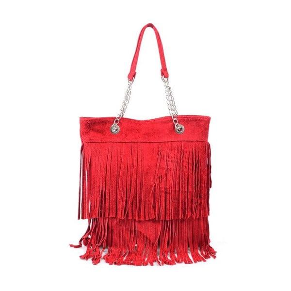 Kožená kabelka Marianne, červená