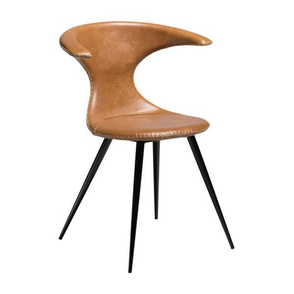 Jasnobrązowe krzesło skórzane DAN-FORM Denmark Flair