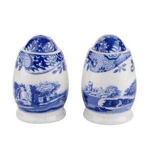 Sada bílomodré porcelánové slánky a pepřenky Spode Blue Italian