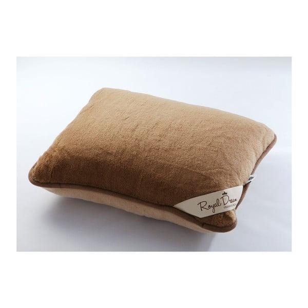 Vlněný polštář Royal Dream Camel, 50x60 cm