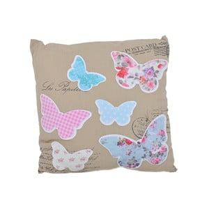 Polštář Béžoví motýli, 40x40 cm