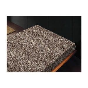 Neelastické prostěradlo Piedras Gris, 180x260 cm
