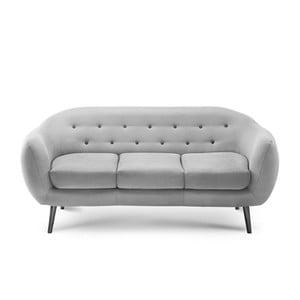 Canapea pentru 3 persoane Scandi by Stella Cadente Maison Constellation, gri
