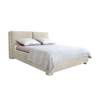 Pat dublu Mazzini Beds Vicky, 160 x 200 cm, bej imagine