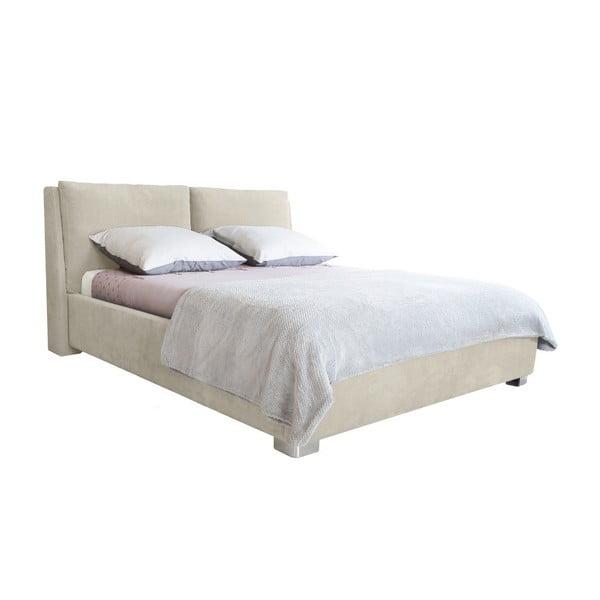 Pat dublu Mazzini Beds Vicky, 160 x 200 cm, bej