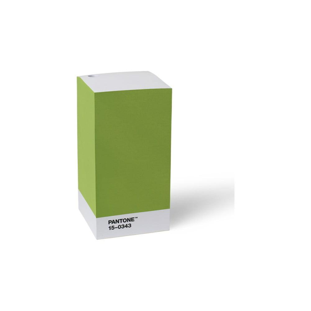 Zelený stojan na tužku / poznámkový blok LEGO® Pantone