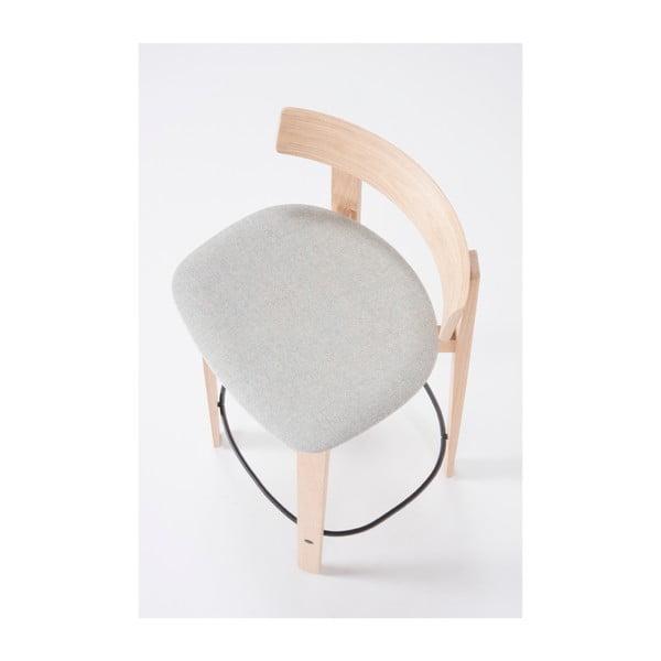 Barová židle z dubového dřeva s opěrkou Gazzda Nora
