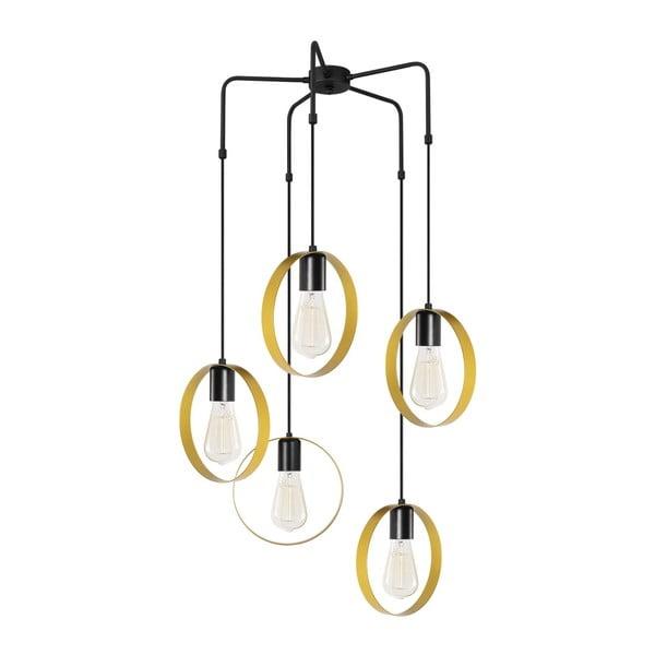 Melinda arany-fekete fém függőlámpa - Opviq lights