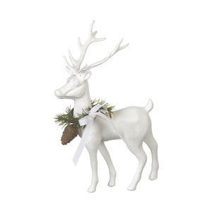 Dekorace Reindeer White, 20x14x6,5 cm