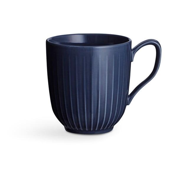 Tmavě modrý porcelánový hrnek Kähler Design Hammershoi, 330 ml