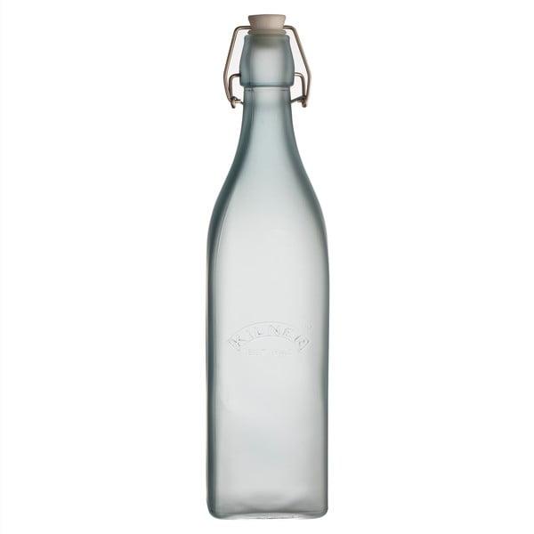 Mléčně modrá láhev s klipem Kilner, 1,0 l