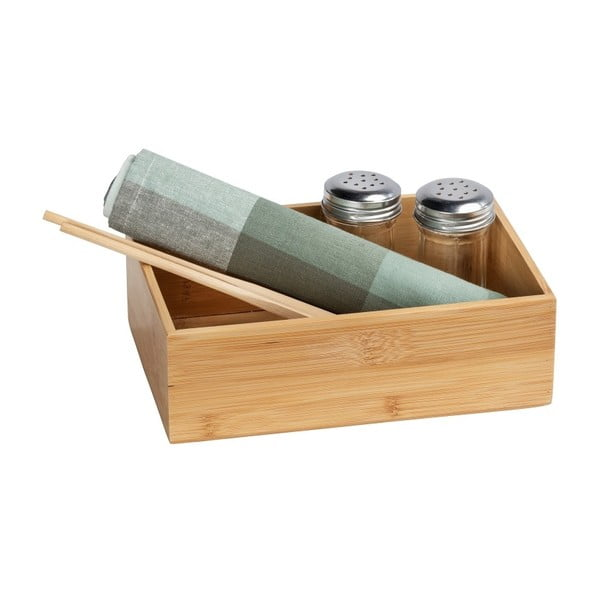 Bambusová úložná přihrádka Wenko Terra, šířka22cm