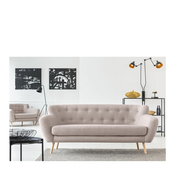 Šedobéžová pohovka pro tři Cosmopolitan design London