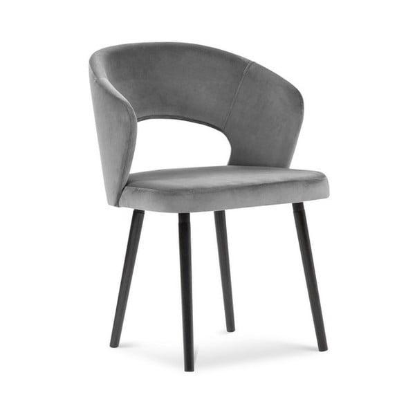 Šedá jídelní židle se sametovým potahem Windsor & Co Sofas Elpis