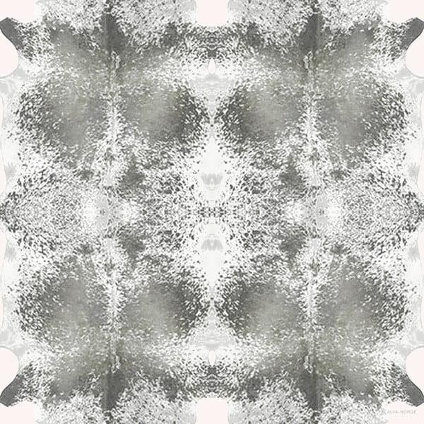 Vlněný šátek s kašmírem Happy Cow Grey, 130 cm