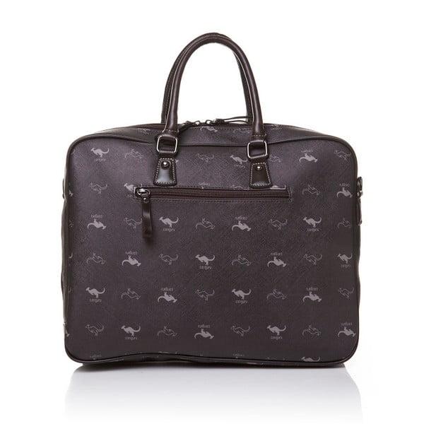 Kožená kabelka do ruky Canguru Louis, hnědá