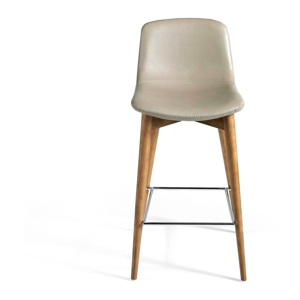 Béžová barová koženková židle Ángel Cerdá Margarita