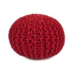 Červený ručně vyráběný bavlněný puf pro děti Mr. Fox, Ø30cm