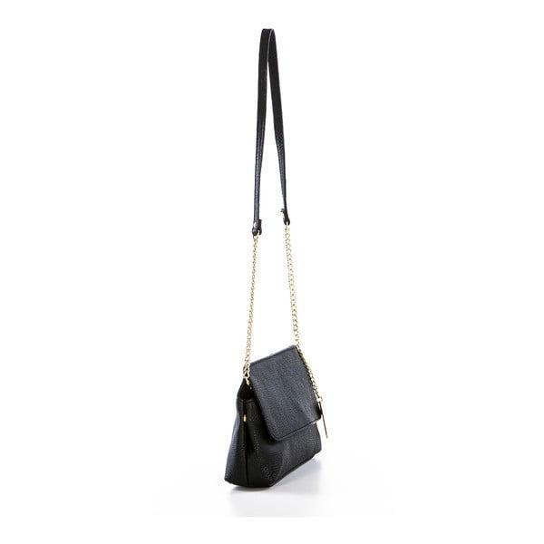 Černá kožená kabelka Federica Bassi Envelope