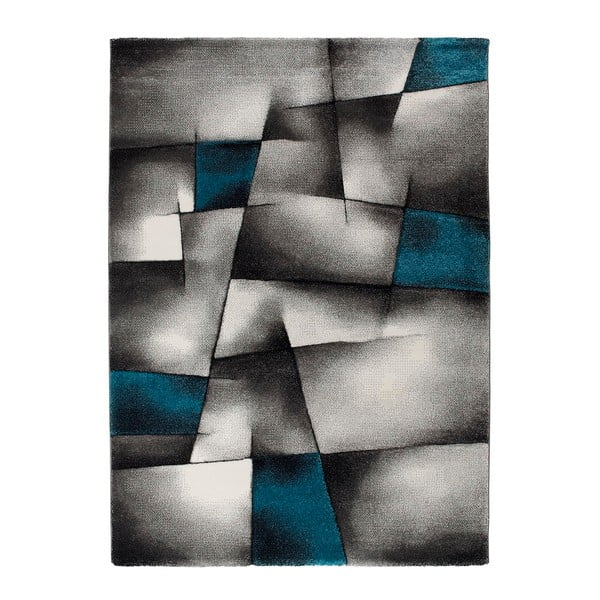 Covor Universal Malmo, 120 x 170 cm, albastru - gri