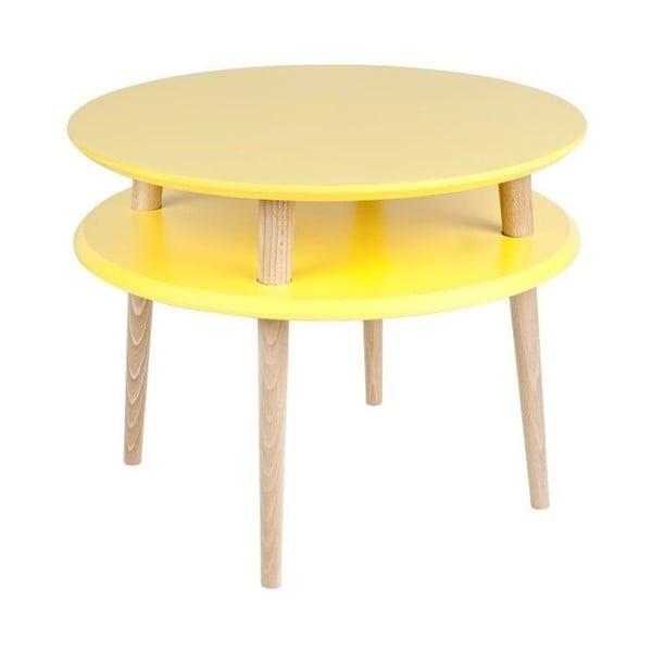 Konferenční stolek UFO 45x57 cm, žlutý