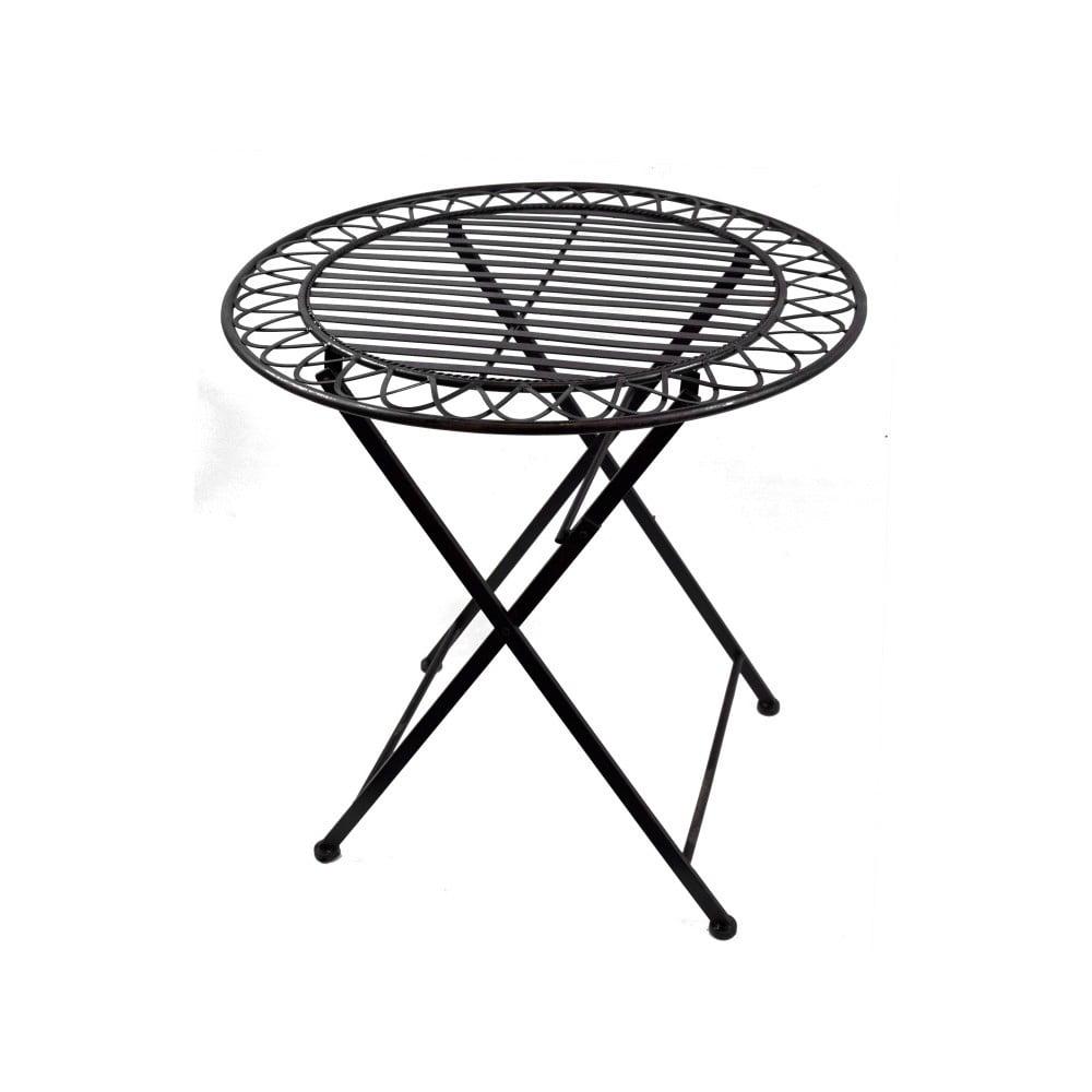 Černý kovový zahradní stolek Ego Dekor