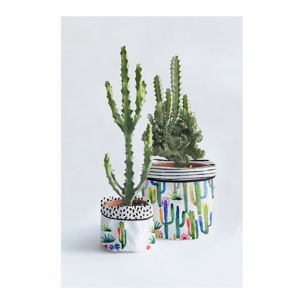 Set 2 ghivece Surdic Watercolor Cactus
