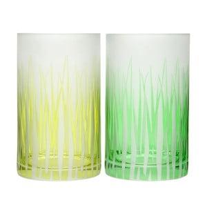 Sada 2ks svícnů Grass Glass, 12x20 cm