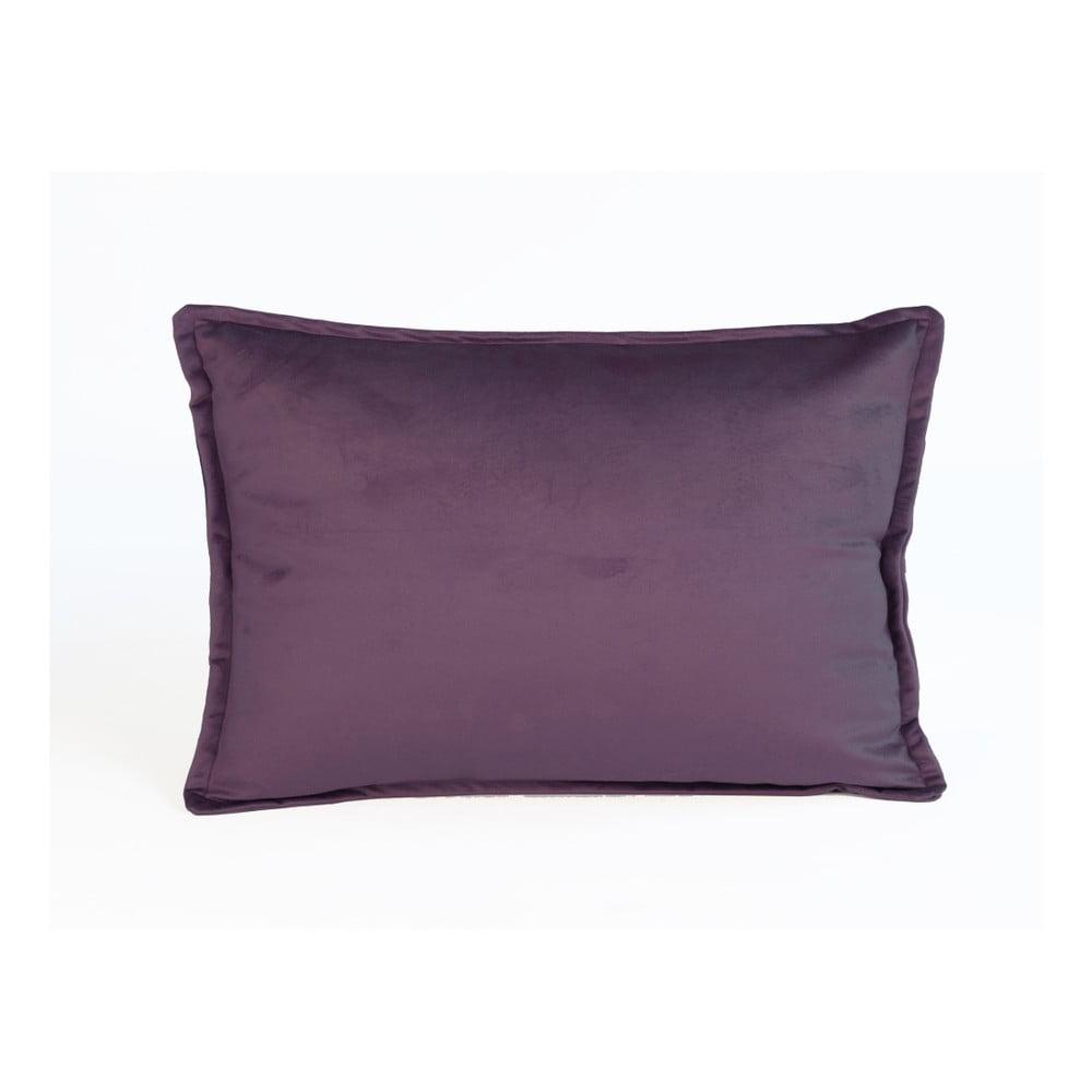 Fialový dekorativní polštář Velvet Atelier, 50 x 35 cm