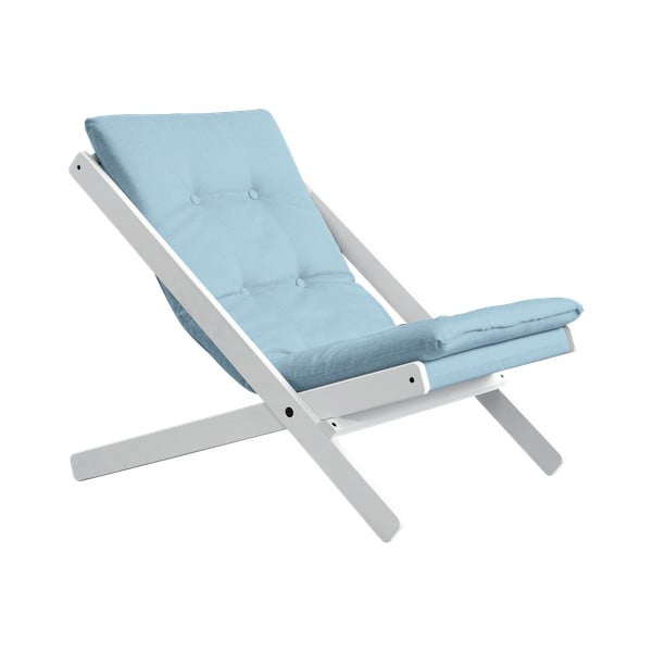 Fotel składany Karup Design Boogie White/Celeste