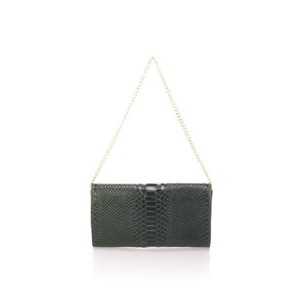 Zelená kožená kabelka Giorgio Costa Clutch