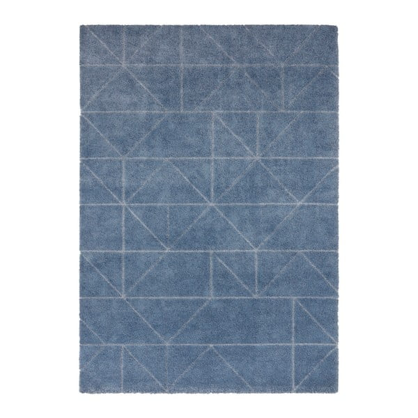 Covor Elle Decor Maniac Arles, 80 x 150 cm, albastru