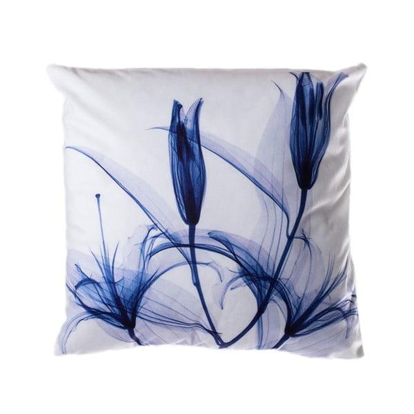 Pernă JAHU Blue Tulip, 45 x 45 cm