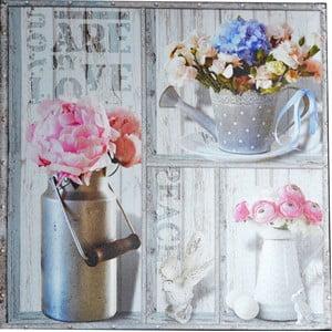 Obraz Květiny v konvičce, 50x50 cm