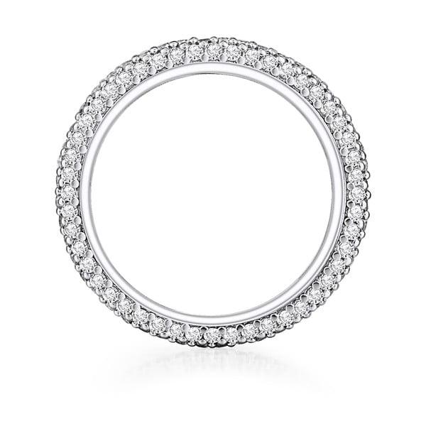 Dámský prsten stříbrné barvy Runway Clara, 54