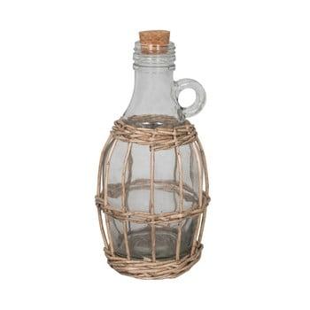 Sticlă în coș de răchită Antic Line Avec, înălțime 22 cm imagine
