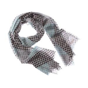 Šátek Block Dot Blue, 180x70 cm