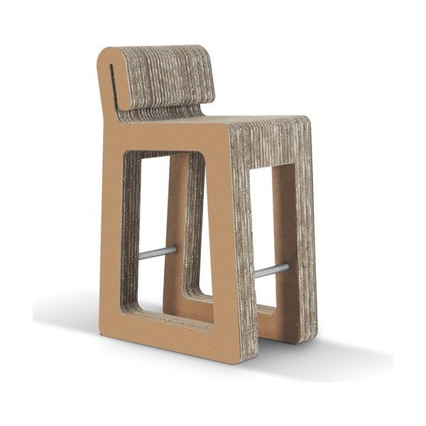 Barová kartonová židle Hook Stool